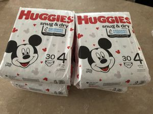Huggies size 4 for Sale in West Valley City, UT