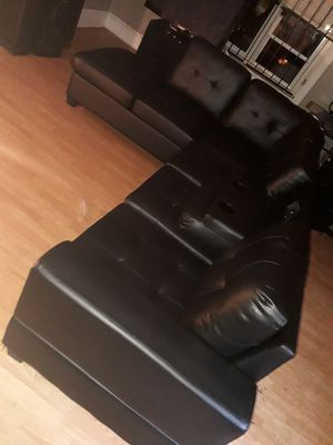 Brand new sectional black couch for Sale in Philadelphia, PA