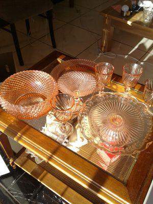 Vintage depression pink glass collection for Sale in Glendale, AZ