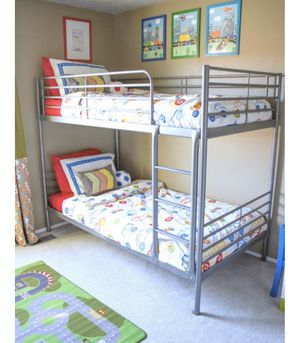 IKEA twin bunk bed boys kids room twin bed frame mattress not include for Sale in Mukilteo, WA