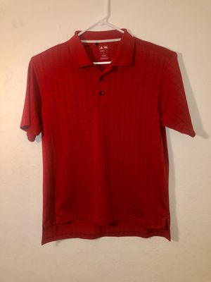 Adidas Men's Medium ClimaCool Red Polo Shirt for Sale in Vacaville, CA
