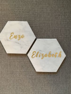 One customized marble coaster with YOUR NAME for Sale in Santa Clara, CA