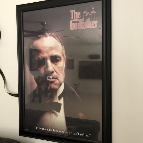 The Godfather Poster And Frame