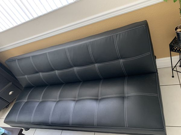Leather couch futon for sale