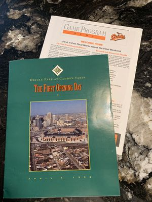 Camden Yards Opening Day Program / Game Program News for Sale in Naperville, IL