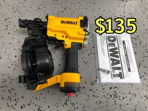 New DEWALT DW45RN Pneumatic 15° Coil Roofing Nailer NEW NO BOX $135 CASH & FIRM PRICE ALL MAJOR CREDIT CARDS ACCEPTED 💳 for Sale in Los Angeles, CA