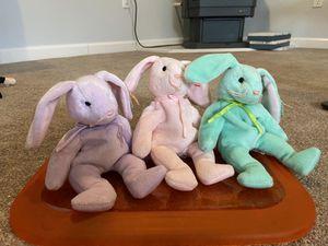 Flippity, Hoppity, and Hippity Beanie Babies Trio for Sale in Edgewood, WA