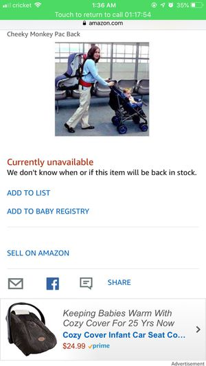 PAC back car seat holder for Sale in Los Angeles, CA
