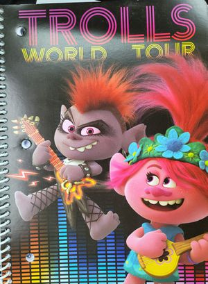(2) Trolls world Tour spiral notebook for Sale in Fort Worth, TX