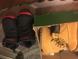 Baby Shoes Size 5 Timberlands and Jordans for Sale in Wake Forest, NC
