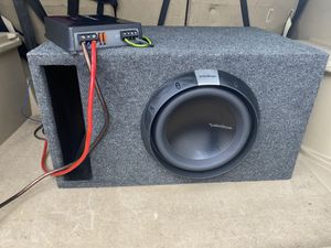 Subwoofer and amp (Rockford fosgate T2) for Sale in Columbus, OH