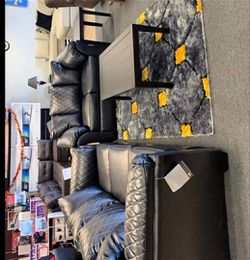 🤟🤟 By Ashley betrillo Black Loveseat And sofa 🚛🚚SAME DAY DELIVERY for Sale in Greenbelt,  MD