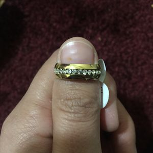 Gold tone stainless steel ring band unisex design for Sale in Silver Spring, MD