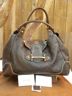 Gucci XL Pelham leather bag with horsebit detail for Sale in Arlington, TX