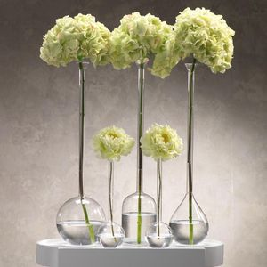 Three (3) Handblown Long Neck Glass Bud Vases for Sale in Washington, DC
