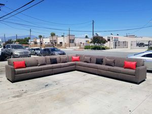NEW 15X15FT ANNAPOLIS CHARCOAL FABRIC SECTIONAL COUCHES for Sale in Yorba Linda, CA