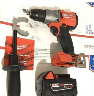 Milwaukee M18 2804-20 FUEL 18V 1/2in Hammer Drill Driver One Battery 48-11-1850 for Sale in Stafford, TX