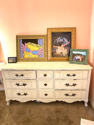 Gorgeous shabby chic dresser and nightstand for Sale in West Hollywood, CA