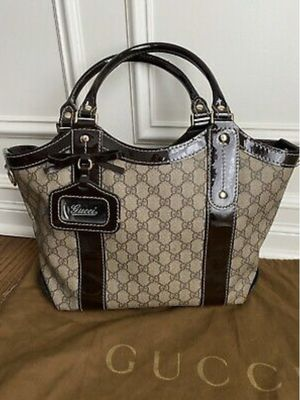 RARE Authentic Gucci VANITY Monogram Coated Canvas & Leather Tote Purse Bag Handbag for Sale in Westmont, IL