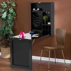 Wall Mounted Table Convertible Desk Fold Out Space Saver Chalkboard Black for Sale in South El Monte,  CA