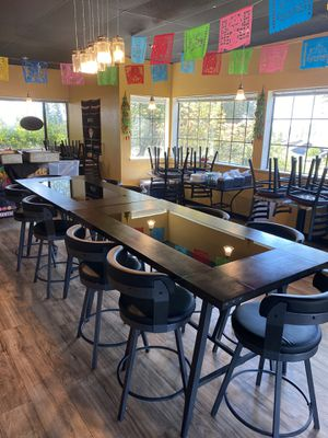 Commercial winery bar glass tables for Sale in Roseville, CA