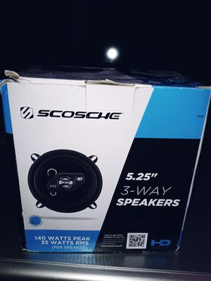 """SCOSCHE 5.25"""" 3-WAY SPEAKERS 200watts max for Sale in Lowell, MA"""