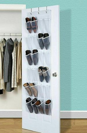 NEW Hanging Shoe Rack Over The Door Holder Hanger Shoe Bag Organizer for Bedroom Office Home Storage for Sale in Las Vegas, NV
