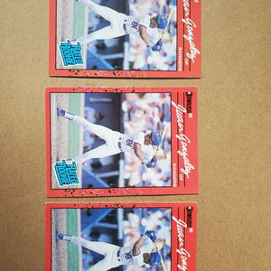 1990 DONRUSS Error Cards Juan Gonzalez (2) reverse negatives And 1 corrected for Sale in Montesano, WA