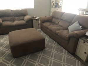 Couch, loveseat, ottoman for Sale in Bakersfield, CA