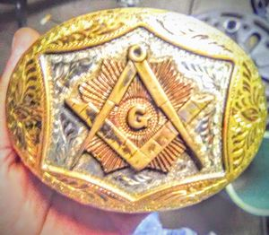 Authentic Free Mason Belt Buckle for Sale in Burleson, TX