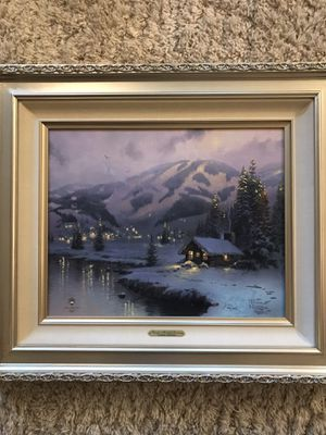 Thomas Kinkade winter painting for Sale in Kirkland, WA