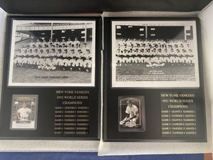 Phil Rizzuto Joe DiMaggio New York Yankees Plaques W/ Score and Card Lot Of 2 for Sale in Watertown, CT
