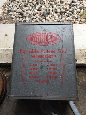 Vintage Dunlap portable power tool workshop for Sale in West Valley City, UT
