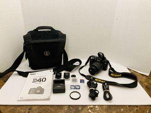 Nikon D40 6.1MP Digital SLR Camera Kit with 18-55mm f/3.5-5.6G ED II Auto Focus-S DX Zoom-Nikkor Lens Bag & More !!! for Sale in Spring Hill, FL