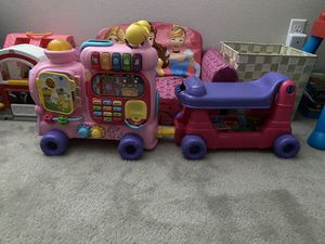 Alphabet train, puzzles, bike, seat, game for Sale in Riverside, CA