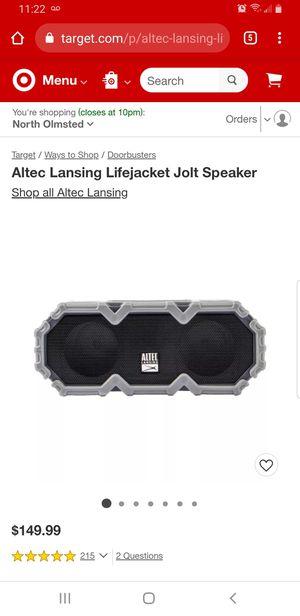 Altec Lansing Lifejacket Jolt Speaker for Sale in Olmsted Falls, OH