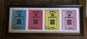 Colored Chanel perfume pictures frame for Sale in Las Vegas, NV