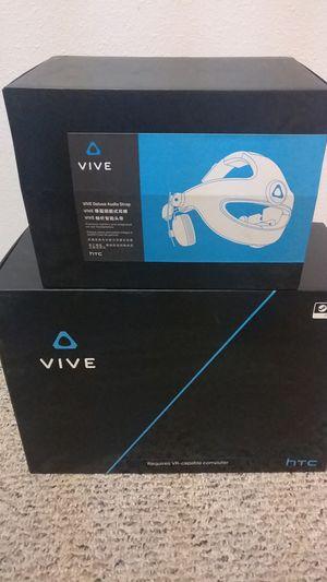 HTC Vive w/ Deluxe Audio Straps for Sale in Cashmere, WA