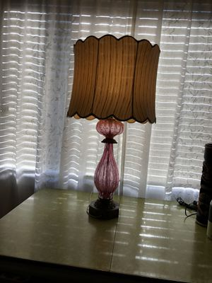 Antique Pink Murano Table Lamp with original Shade for Sale in Santa Clara, CA