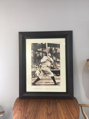 Babe Ruth print - The Sultan of Swat framed photo poster for Sale in San Diego, CA