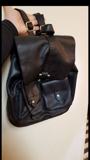 Leather Black Backpack for Sale in Everett, WA