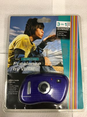 Vivitar ViviCam V15 1.3MP Digital Camera - Purple for Sale in Nashville, TN