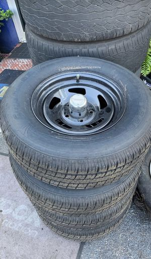 "Brand new trailer wheels and tires 14"" for Sale in Hollywood, FL"