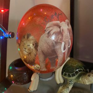 Decorative Designer painted ostrich egg With Stand From South Africa for Sale in St. Petersburg, FL