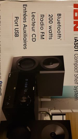 ION Compact shelf system Hi-Fi CD/FM with Bluetooth for Sale in South Gate, CA