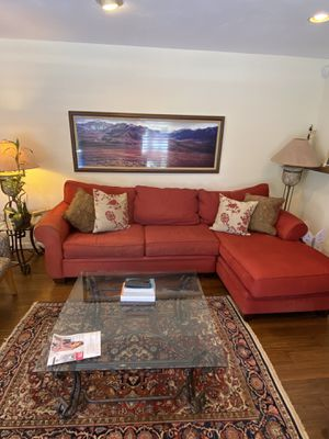 Red Cozy Couch for Sale in Redwood City, CA
