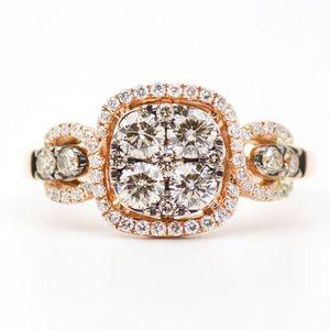 Fancy Yellow Diamond LeVian Rose Gold Engagement Ring for Sale in Atlanta, GA