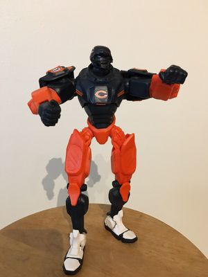 """Nfl Fox Sports 10"""" Robot Cleatus Action Figure - Brand - Chicago Bears in good condition asking 20 for Sale in Charlotte, NC"""
