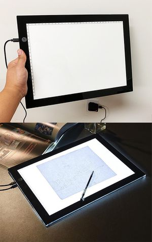 """New $20 LED Light Box A4 Ultra-Thin Tracer Tracing Pad for Artists, Drawing, Sketching (Size 9""""x13"""") for Sale in South El Monte, CA"""