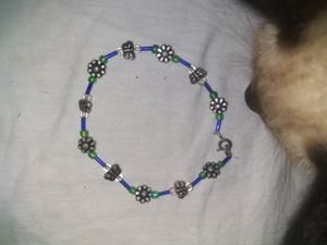Butterfly & flower anklet for Sale in Houston, TX